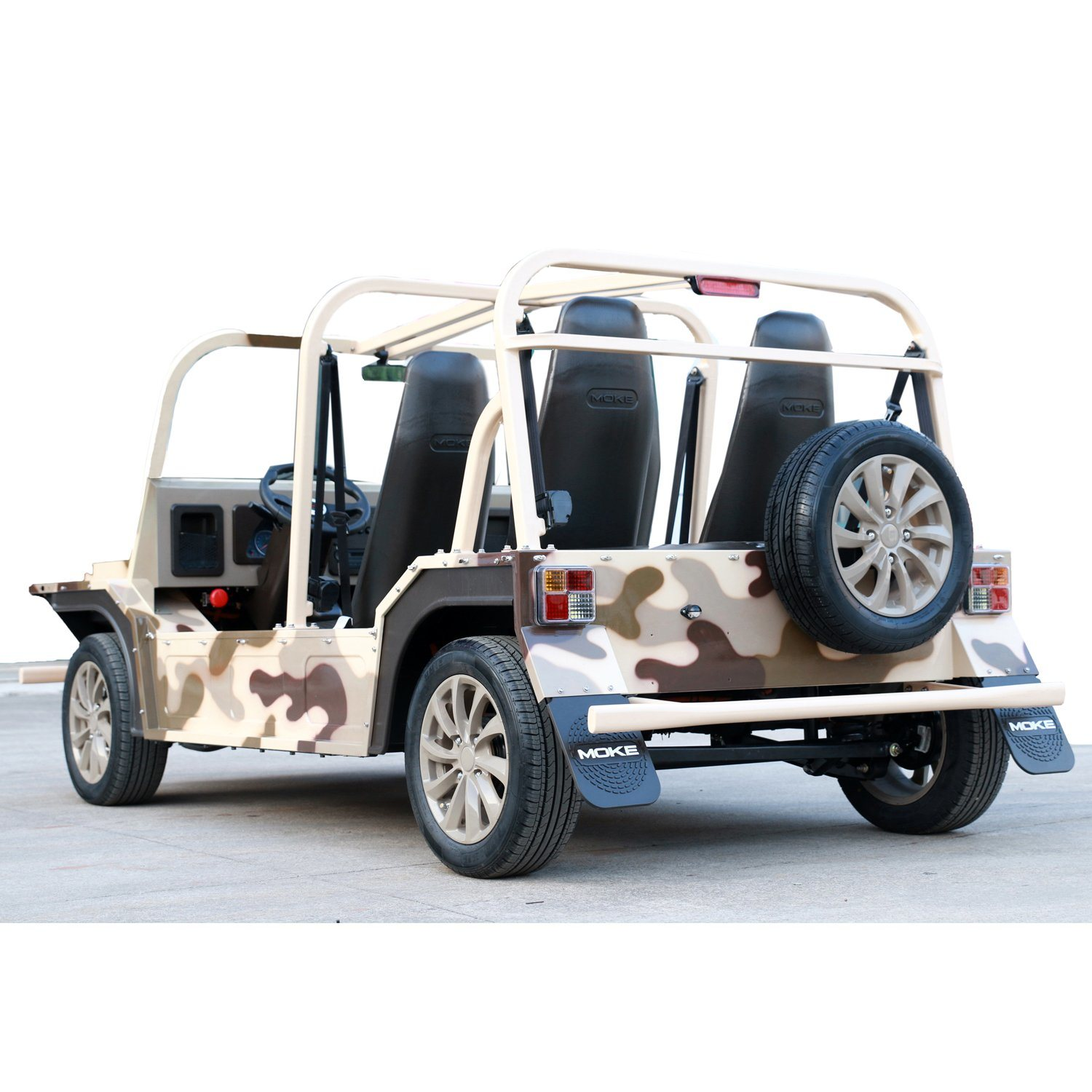 Desert Camouflage Electric Tourist Coach Sightseeing Car with 150km Endurance Mileage