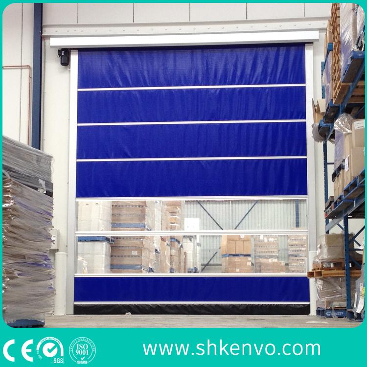 Warehouse PVC Fabric High Speed Fast Rapid Roller Shutter Door