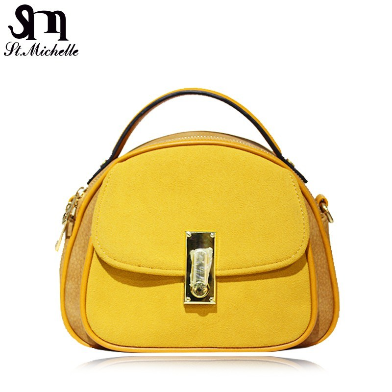 Yellow Fashion PU Tote Handbag for Women