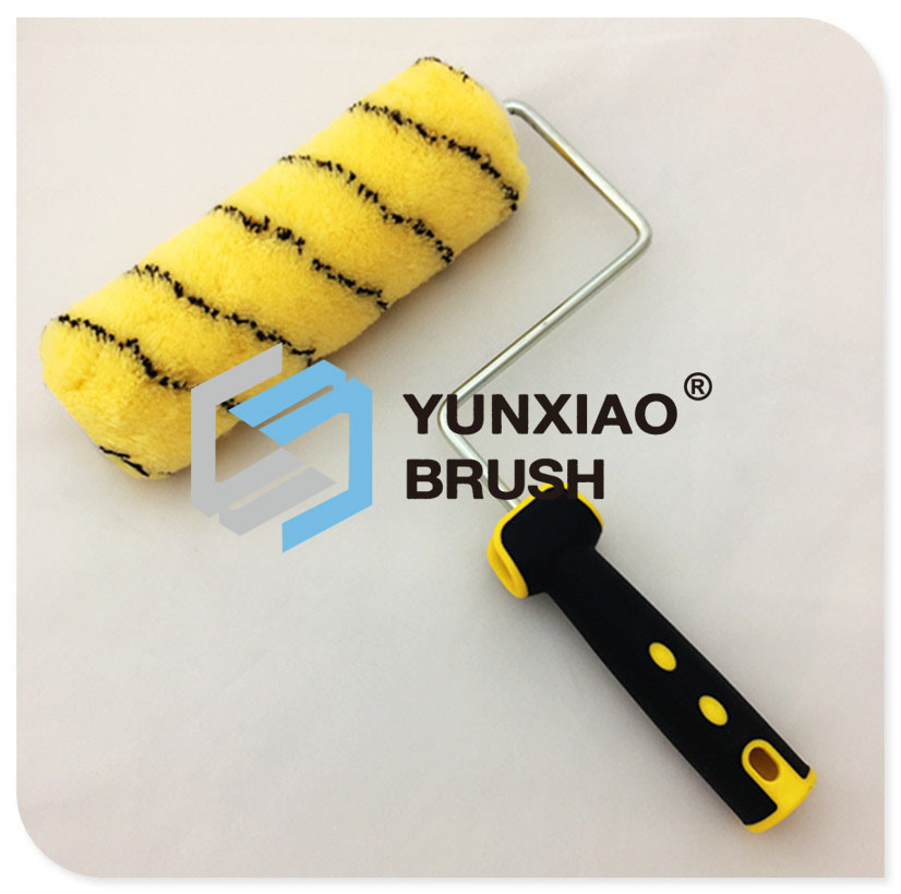 Yellow Acrylic Paint Roller Brush Hand Tool Hardware
