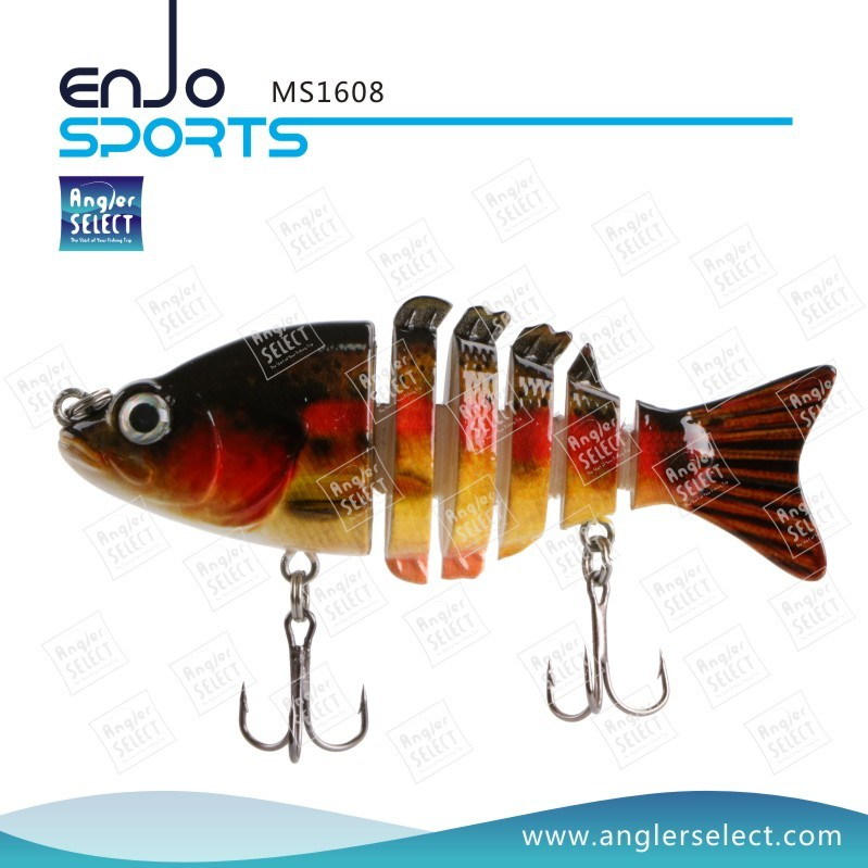 Multi Jointed Fishing Life-Like Minnow Lure Bass Bait Swimbait Shallow Artificial Fishing Tackle Fishing Bait (MS1608)