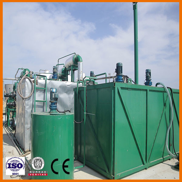 Hot Sell Waste Black Engine Oil Recycling Plant