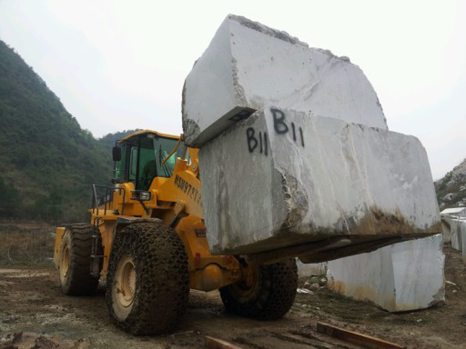 36 Tons Wheel Forklift Loader for Marble with Ce ISO SGS