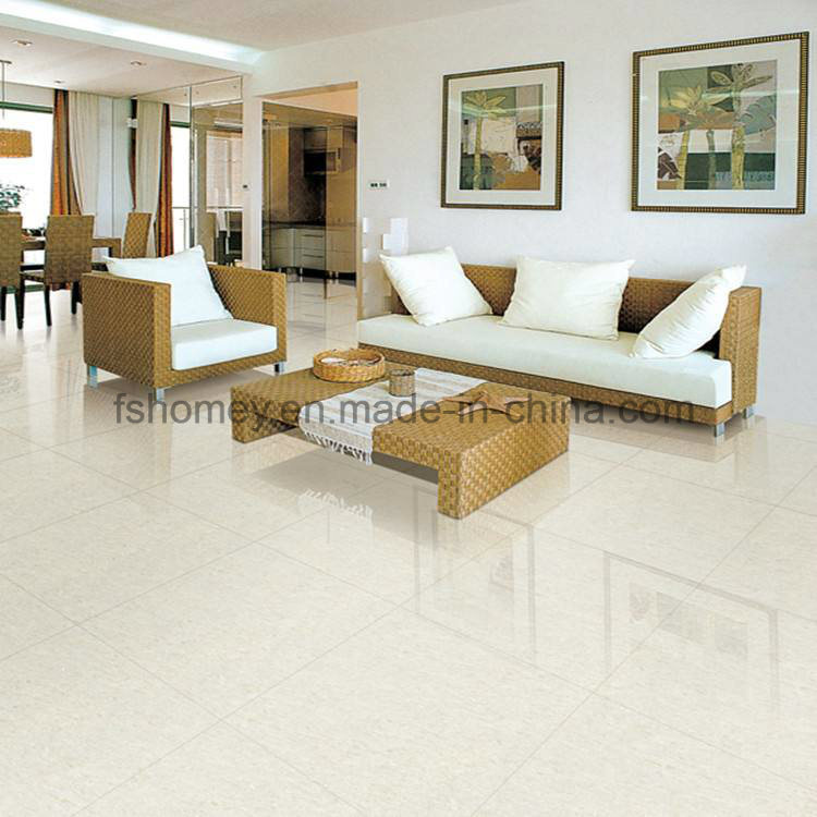 White Polished Porcelain Flooring Tile for Living Room