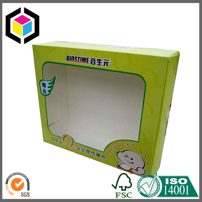 Open Window Color Printing Cardboard Paper Packaging Box