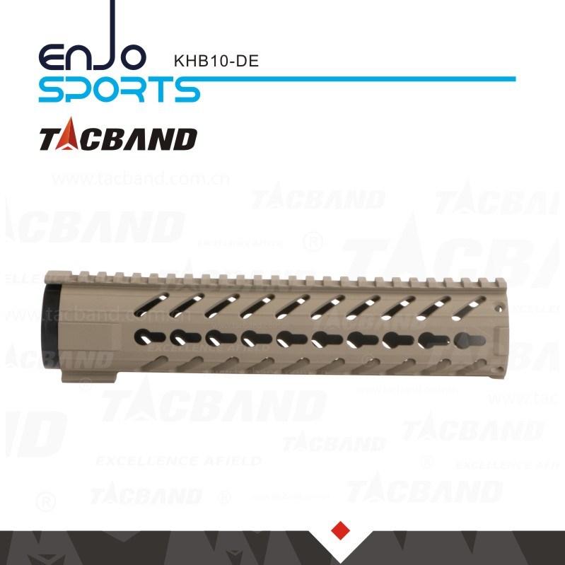 Super Light-Weight Free Float Keymod 10 Inch Handguard Rail W/Picatinny Top Rail Flat Dark Earth