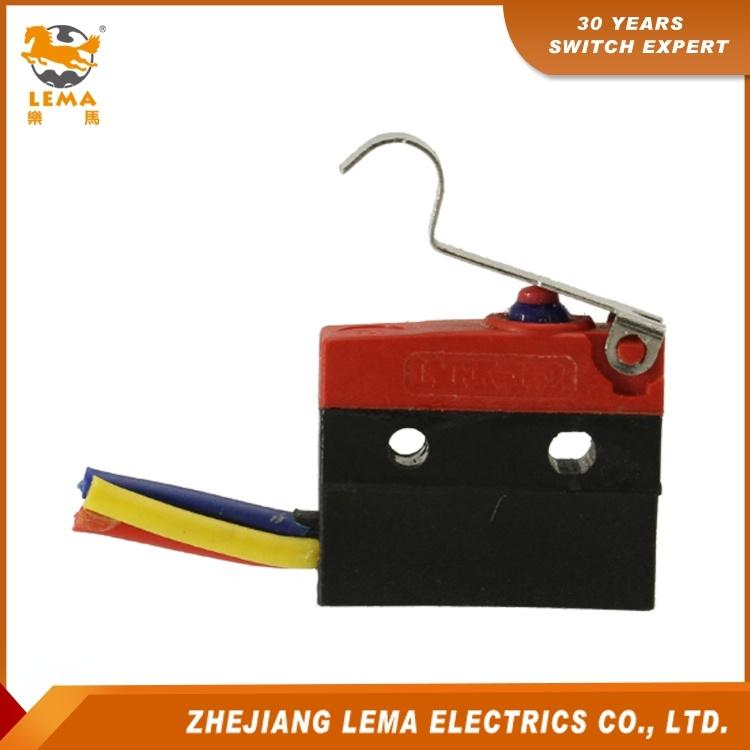 Lema Kw12f-5ex Waterproof IP67 Long Bent Lever Micro Switch