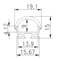 Aluminum Profiles Diffuser Lens