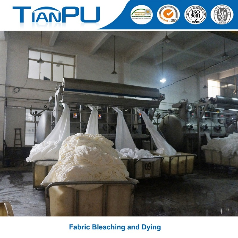 Anti-Pilling Bamboo Light Green Jacquard Mattress Ticking Fabric