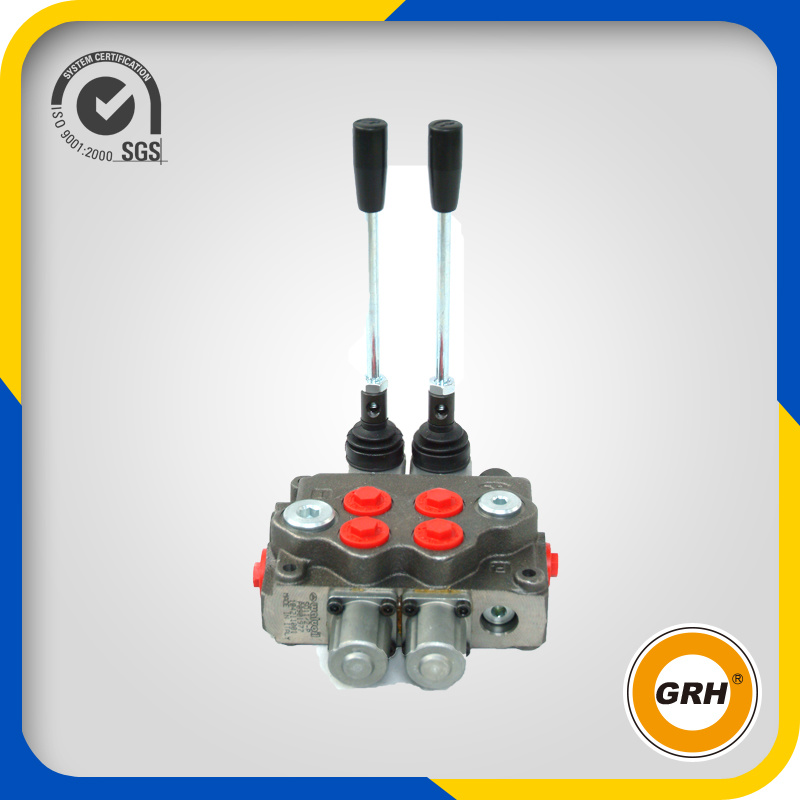CE Proved China 2 Spools Hydraulic Monoblock Control Valve