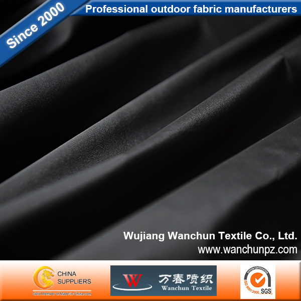 Memory Colored Woven Fabric Black