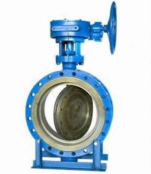 Double Eccentric Worm Gear Flange Butterfly Valve