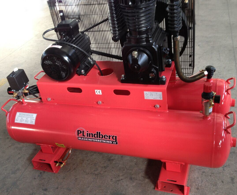 Tx-50180t 5.5HP 180L Twin Tank Industrial Belt Driven Air Compressor