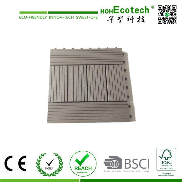 Non-Slip Floor Tile/ WPC DIY Tile / Water-Proof Outdoor Decking Tile