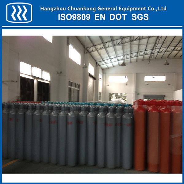 50L Seamless Steel Nitrogen Argon CO2 Oxygen Gas Cylinder