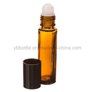 5 Ml, 10 Ml, and a Large 30 Ml Amber Glass Aromatherapy Roll-on Bottles Perfume Essential Oils