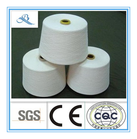 Row White High Quality Combed Cotton Polyester Yarn C60/T40 21s