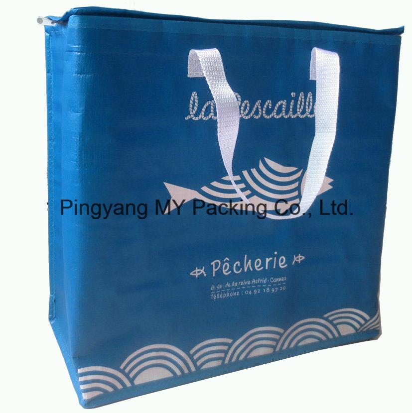 Custom Logo Print PP Woven or Non Wovenlamination Cooler Bag