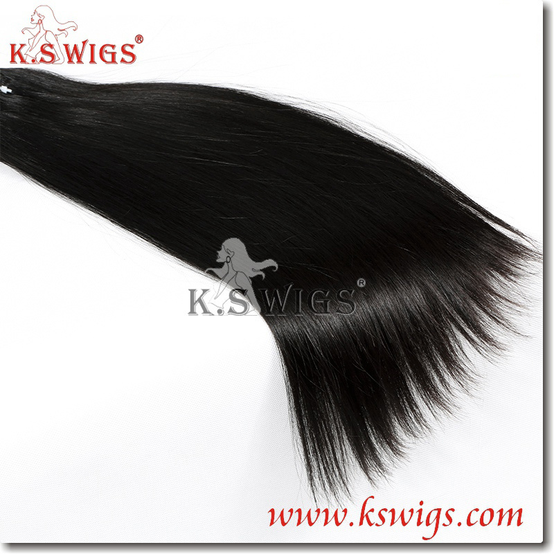 K. S Wigs Hot Sale! 100% Human Hair Extensoin Remy Human Hair