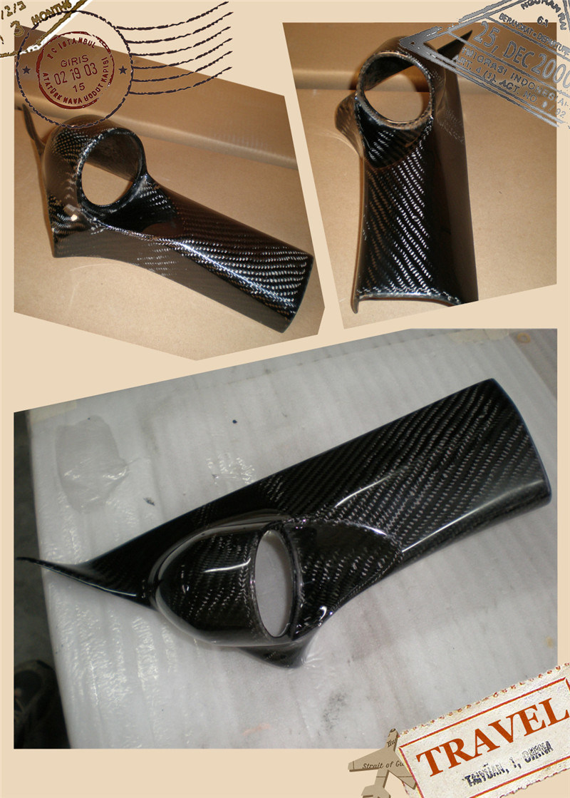 Carbon Fiber Pillar Meter Cover for Suzuki Swift 2005-2008