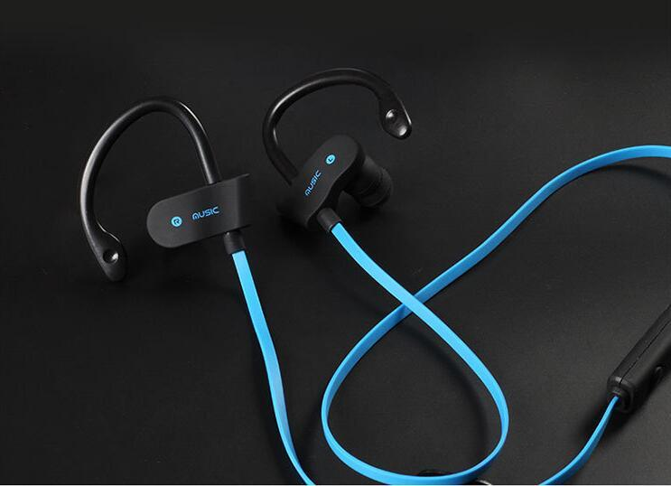 Bluetooth Headphones, Bluetooth Headset Noise Cancelling Headphones with Microphone Running, Sports, Gym Sweatproof Wireless Earphones