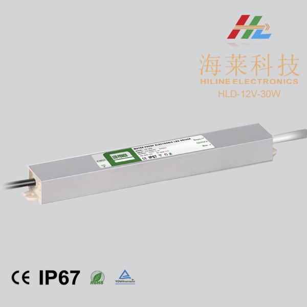 30W 12V 24V LED IP67 Waterproof LED Power Supply LED Driver