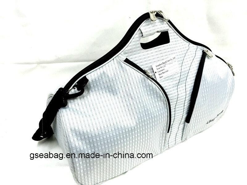 2017 Weekend Gym Basketball Duffel Luggage Sport Travel Saddle Bag (GB#10002-2)