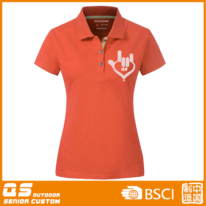 Women′s Polo Sport Fitting T-Shirt