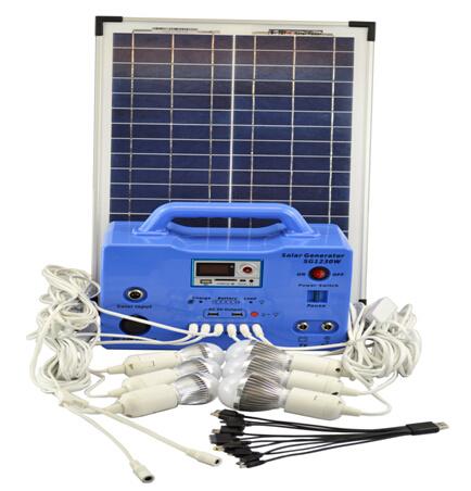 30W Panel Home Use Solar Power Generator