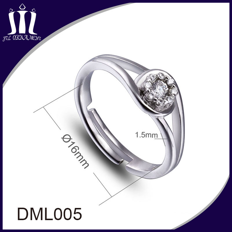 Custom Design Fashion Diamond Jewelry Ring