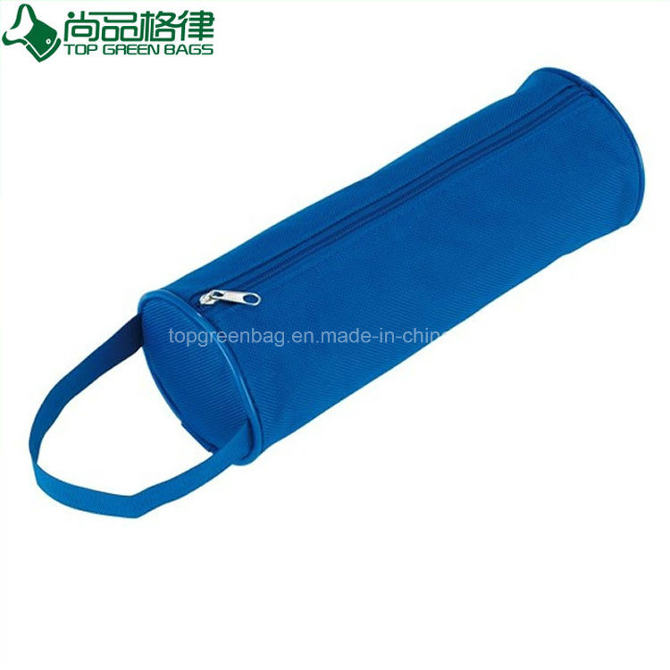 Top Selling Handled Zippered Polyester Round Holder Oxford Pencil Case