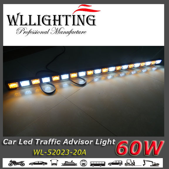 Dual Colors LED Traffic Directional Warning Light Amber White