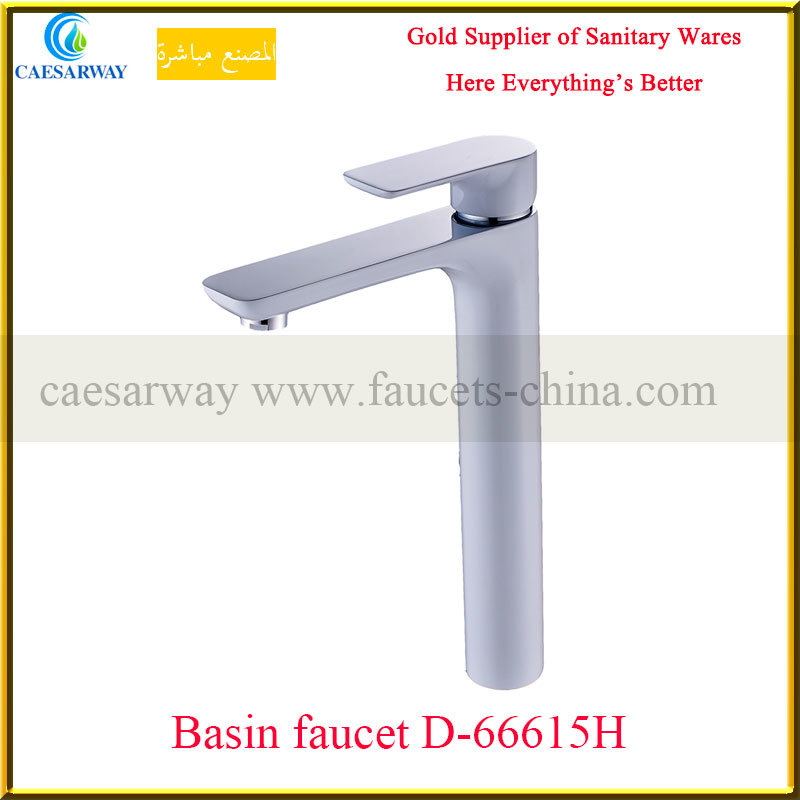 High Brass Basin Faucet&Mixer with White Painted