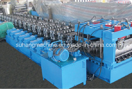 55kw Hydraulic Power 18 Stations Steel Silo Panel Roll Forming Machine