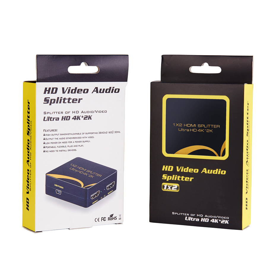 Uhd 4k 1X2 2 Port HDMI Splitter 1.4V 1 in 2 out