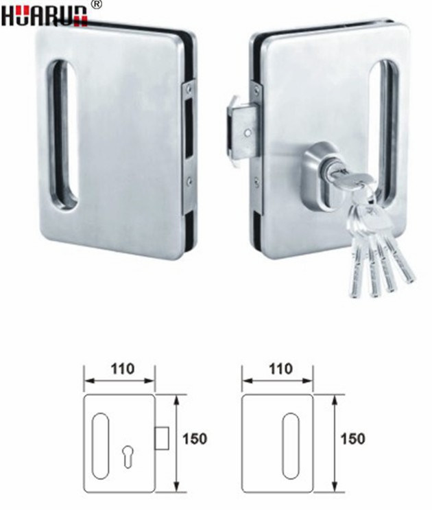 Zinc Alloy Glass Door Lock With Handle HR-1137/HR-1136: