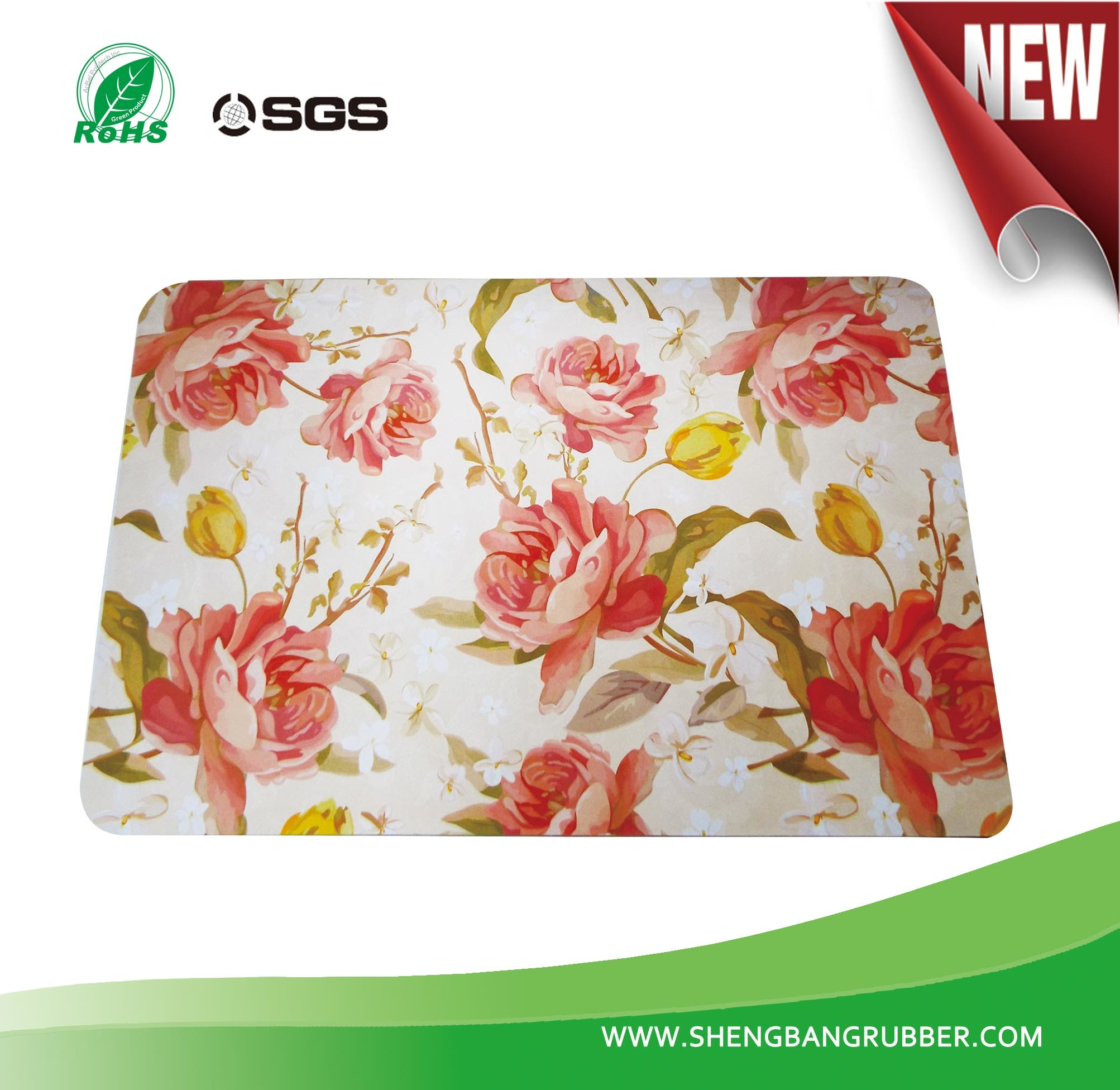 High Quality Micro-Suede Flower Design Floor Mat Carpet Area Rug