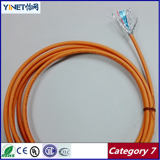 Ethernet Cable Cat7 1000FT S-FTP Twisted Pair, 1200MHz 10gbase-T Data, Bare Copper 23AWG Installation Cable