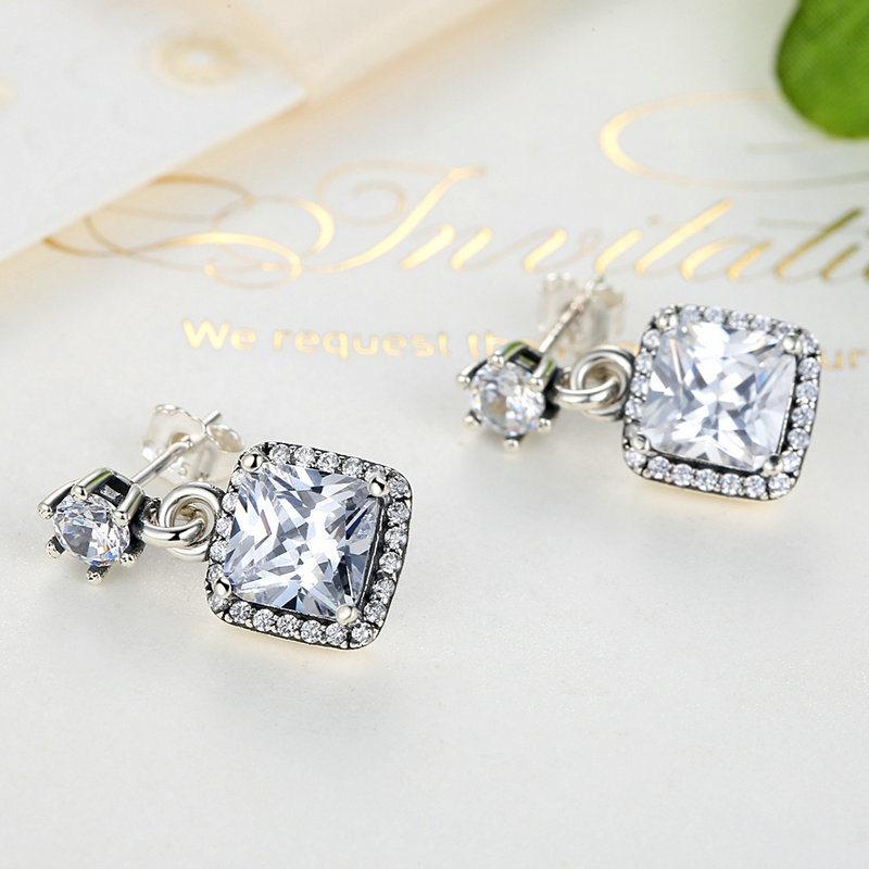 CZ 925 Sterling Silver Earrings