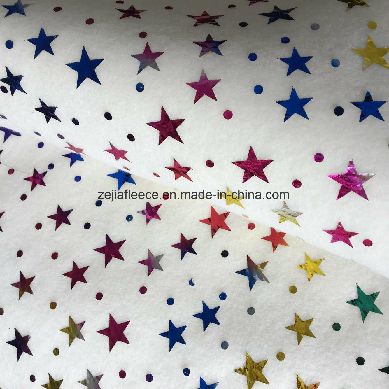 Colorful Hot Stamping Polar Fleece with Snowflake