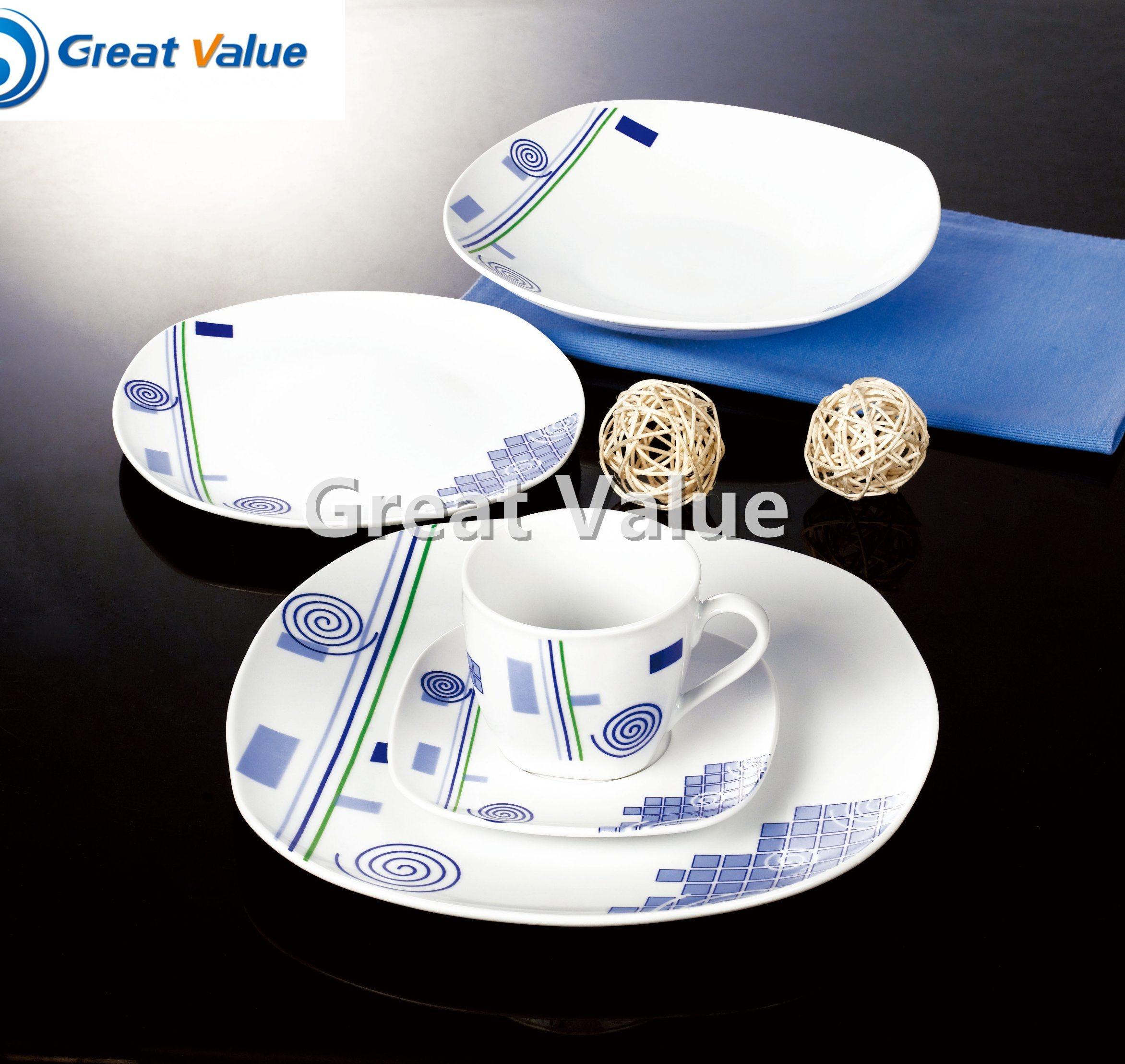 Western Style Porcelain for Restaurant White