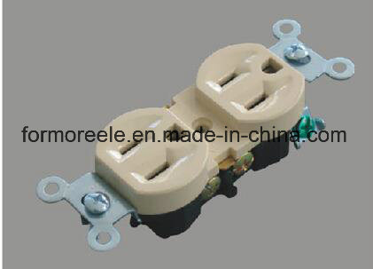 American Standard ABS Ivory 250V/20A Standard Grounding Electric Socket/Receptacle