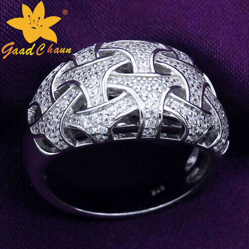 Stsr-16113010 Venus Inlay Zircon Flower Sterling Silver Bangle