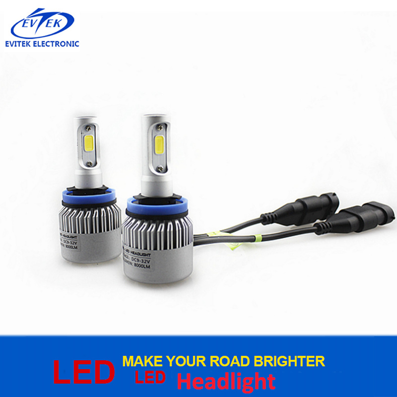 Automobile Lighting COB LED Headlight H8/H9/H11 8000lumen S2 H11 LED Auto Lamp