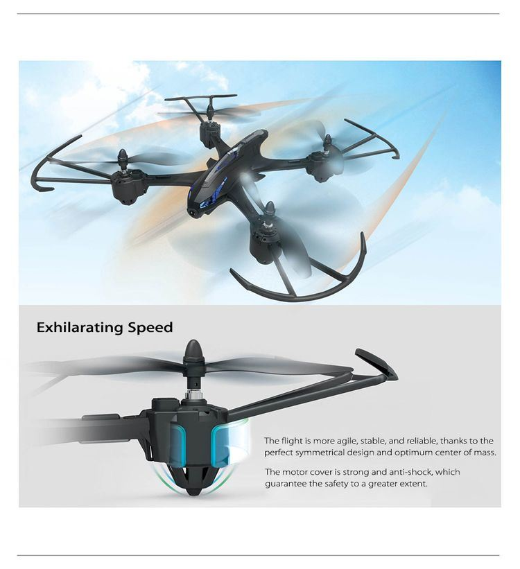 0759200-RC Quadcopter - RTF with 2MP Camera - Silver and Grey
