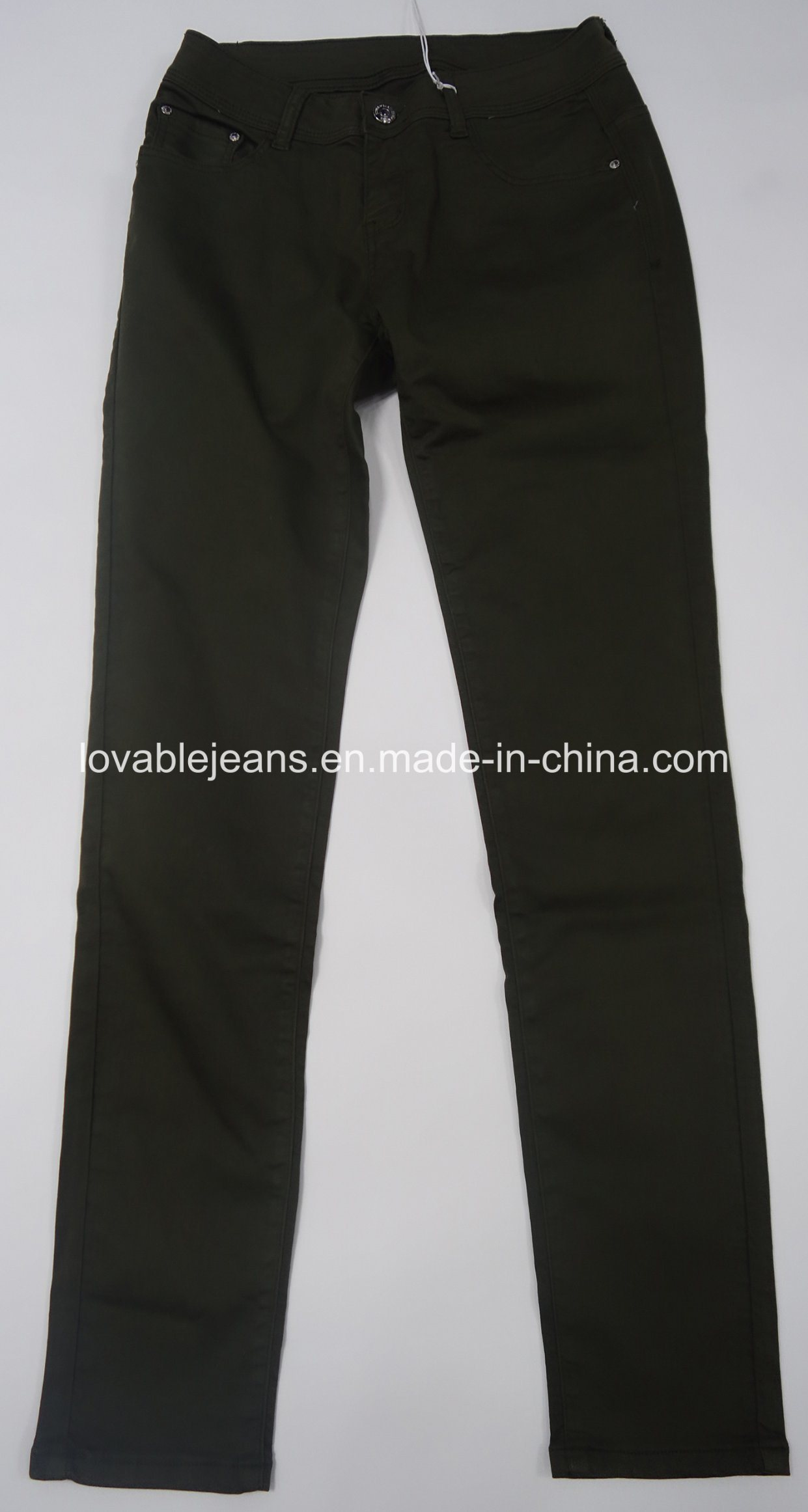 7.3oz Black Ladies Pants (HY16002C)