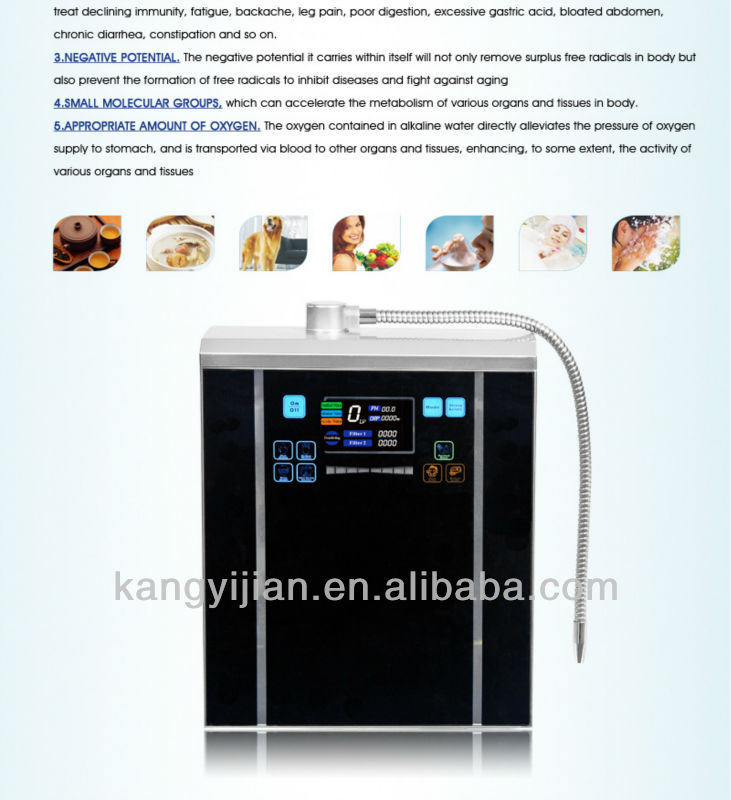 Hydrogen Alkaline Water Ionizer for Home Used (CE Certified) (BW-6000)