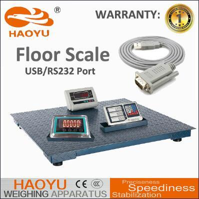 Carbon Pattern Skidproof Steel 3.5mm Electronic Digital Floor Scale