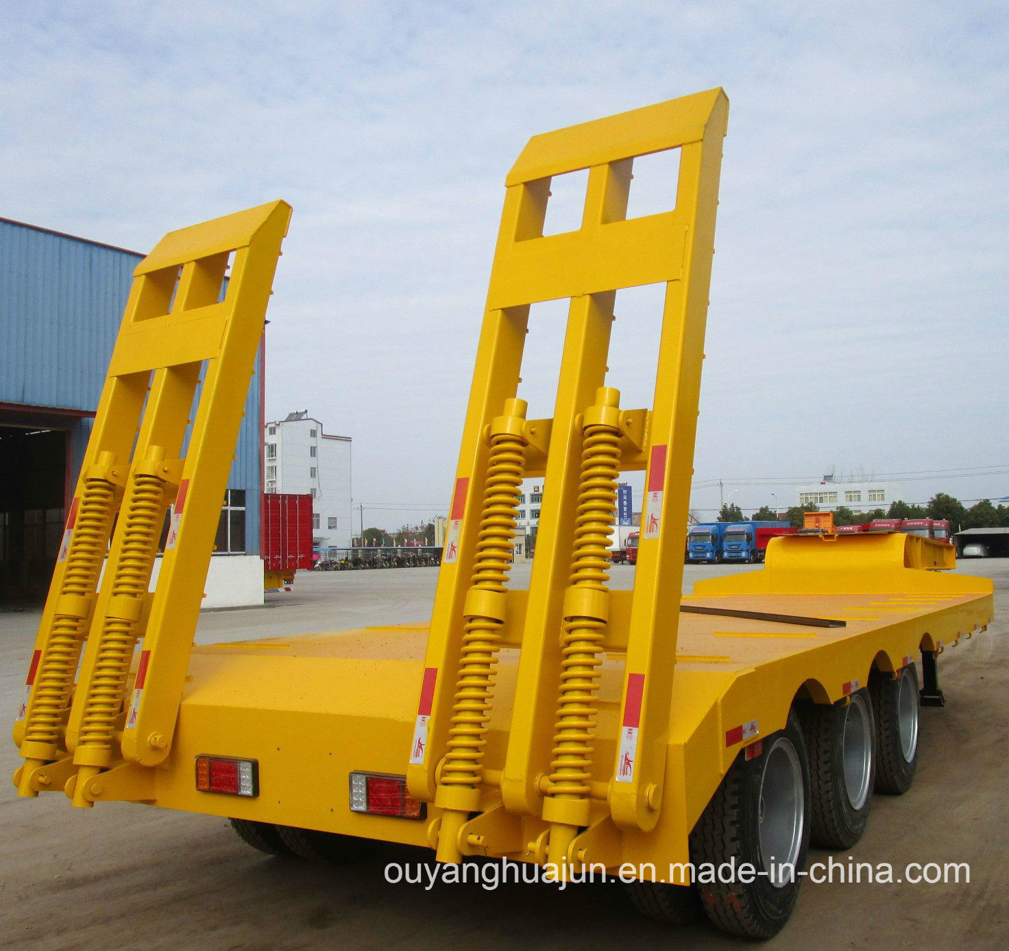 2 Axles Gooseneck Excavator Carrier Vehicle Semitrailer