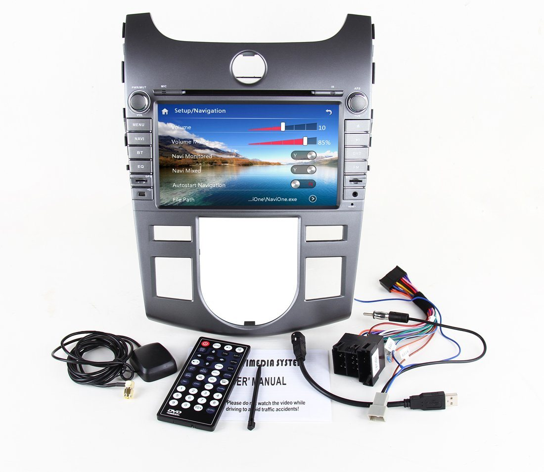 KIA Forte 2011 Auto DVD Player with Built-in WiFi Bt DVD 4G 1080P